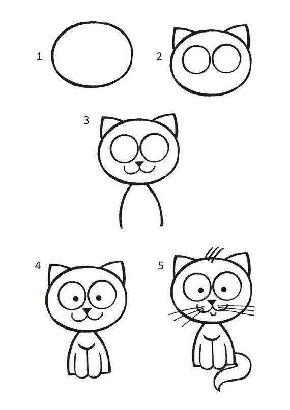 Рисуем животных вместе с детьми простые картинки где купить