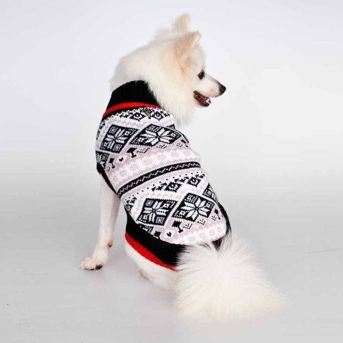 Blueberry Pet Nordic Pattern Inspired Fair Isle Snowflakes Dog ...