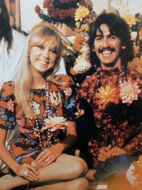 """George Harrison & Pattie Boyd...she is rumored to have inspired """"Something."""" (Which was written by George)"""