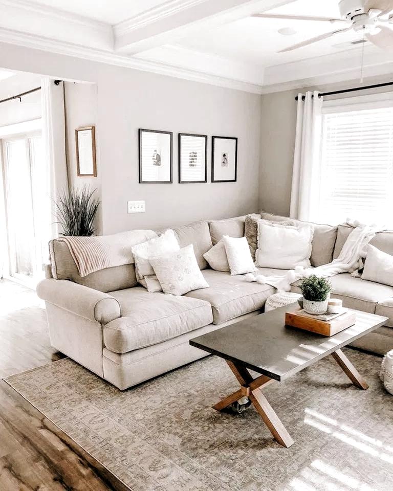 40 Comfy Scandinavian Living Room Decoration Ideas You Can Copy Livingroomdecor En 2020 Idees De Decoration De Salon Decorations De Salle De Sejour Deco Salon Blanc