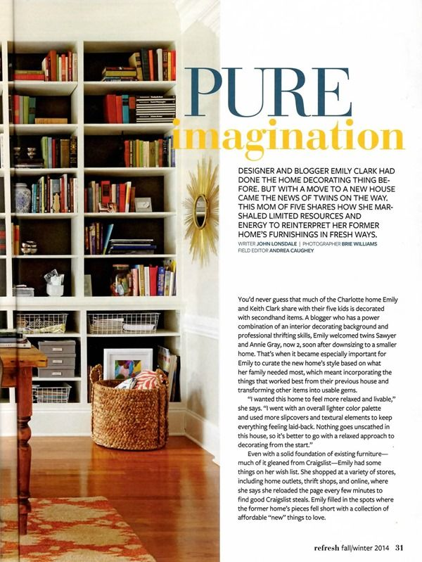 Our Bh G Refresh Magazine Article Emily A Clark Moving New House Magazine Articles Design