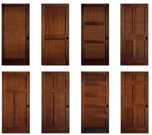 Another Type Of Hinged Single Leaf Door Not Smooth But Rather Consisting Of Panels As The Craftsman Interior Doors Craftsman Style Interiors Doors Interior