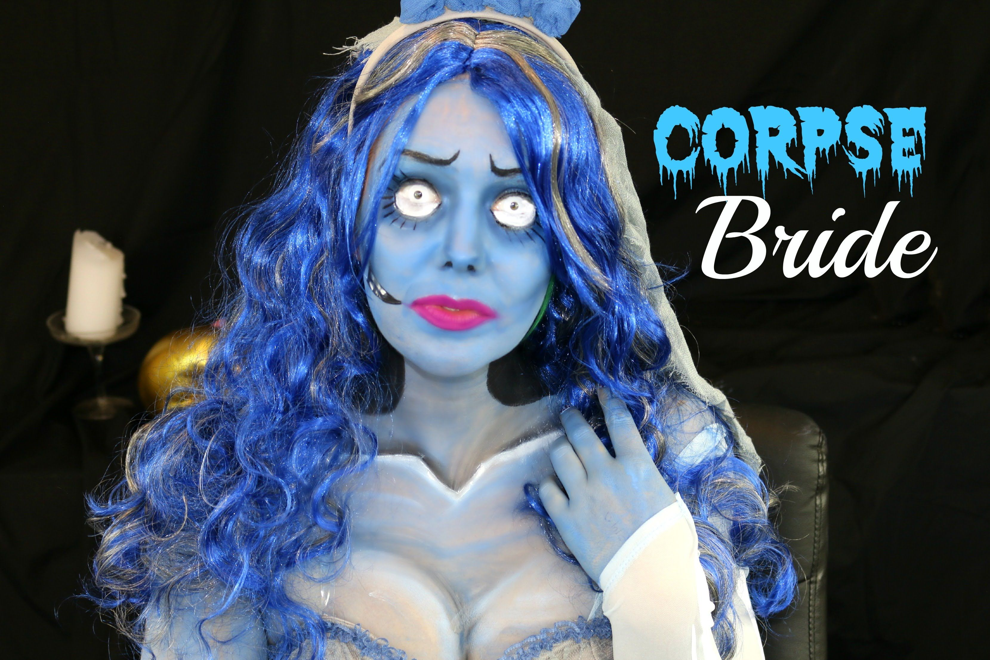 Corpse bride halloween or cosplay makeup idea by jade madden love