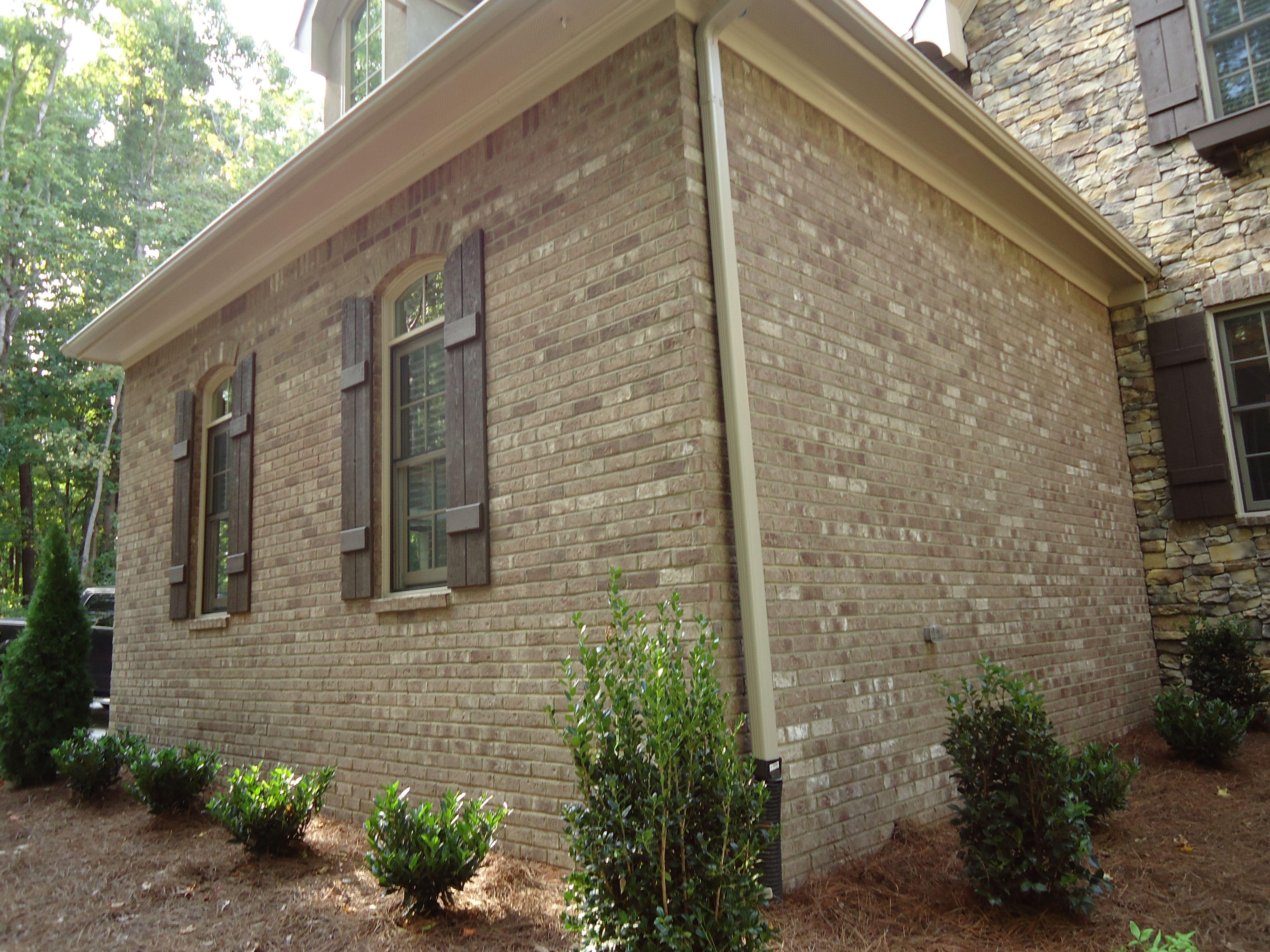 Arh Asheville Plan Exterior 30 Brick Boral Savannah Gray Shutters Spicewood Sw3021 Stone Coronado F Exterior Brick American Houses House Exterior