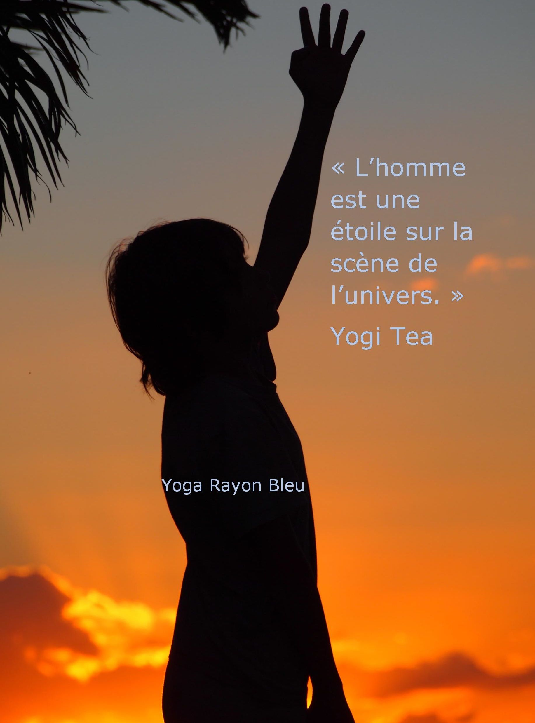 Citation Yogi Tea Photo Ile De La Reunion Yoga Rayon Bleu