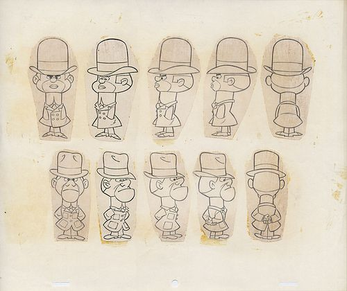 Wacky Racers ~ Anthill Mob Sketch Sheet 01
