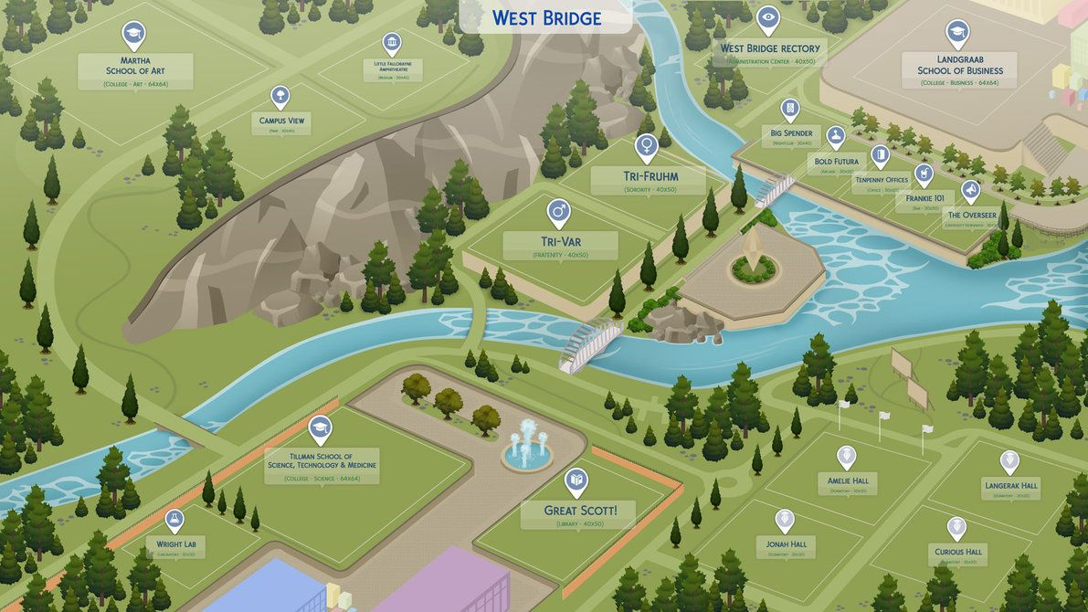 TCWP] West Bridge University PREVIEW 1 by filipesims | Sims 4 cc to ...