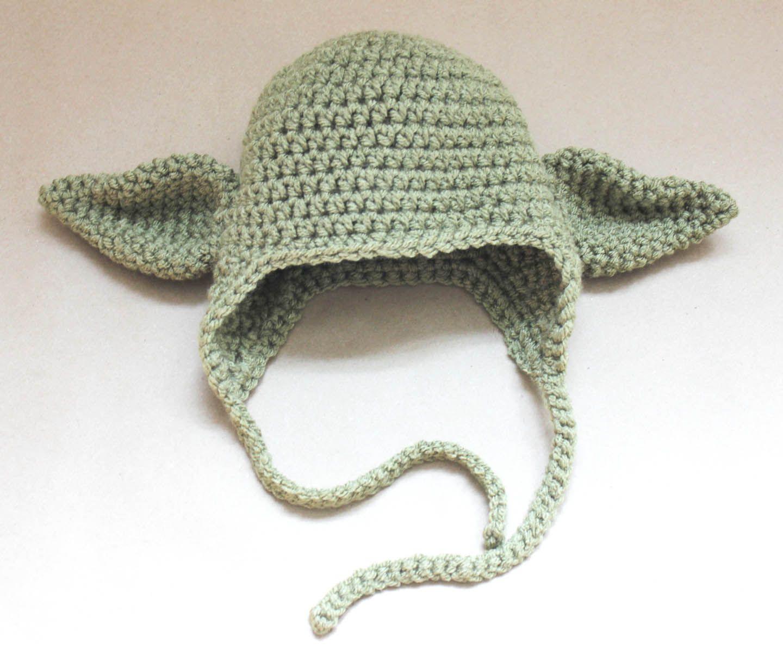 Yoda Mütze Häkeln Baby Pinterest