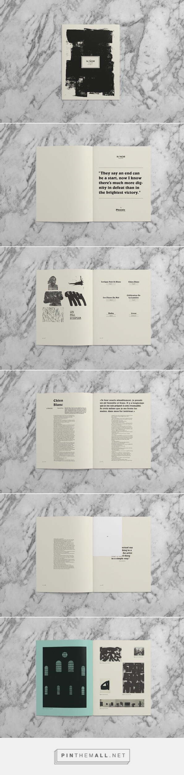 NOIR Magazine on Behance - created via http://pinthemall.net