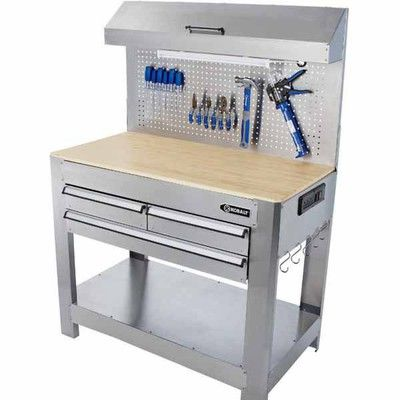 Lowes Deal Kobalt Stainless Steel Heavy Duty Work Bench Woodworking Table Plans Woodworking Bench For Sale Workbench
