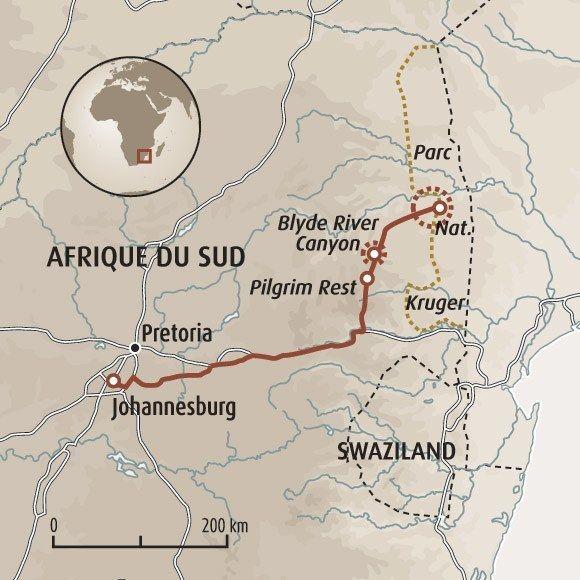 Carte Afrique Du Sud Parc Kruger.Circuit Carte Afrique Du Sud Le Parc Kruger Autrement