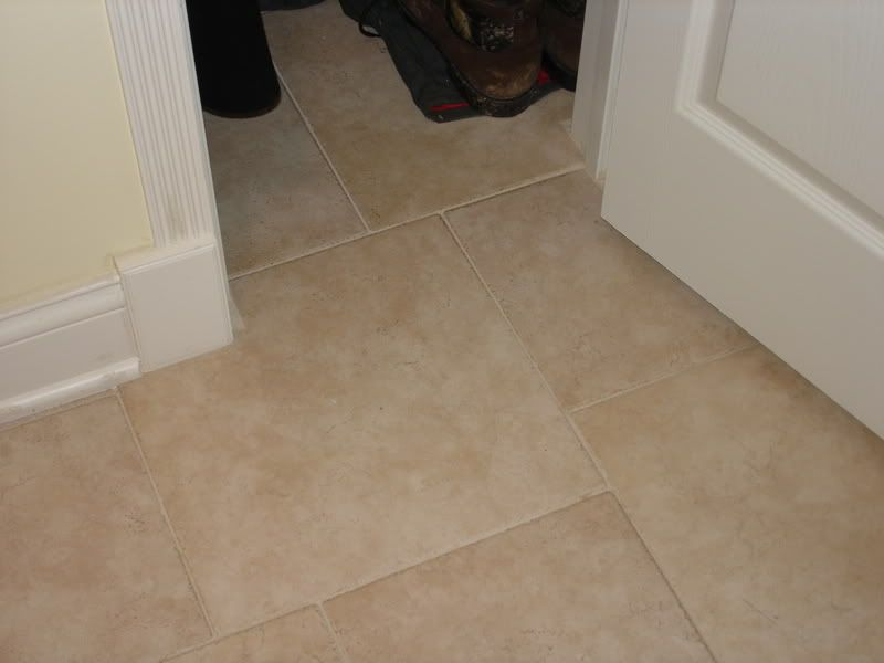 We Ve Had Rialto Beige Tile With Laticrete Mushroom Epoxy Grout In Our