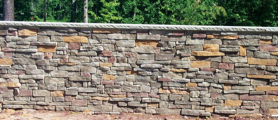 Stone Retaining Walls | ... stone synthetic stone wall ...