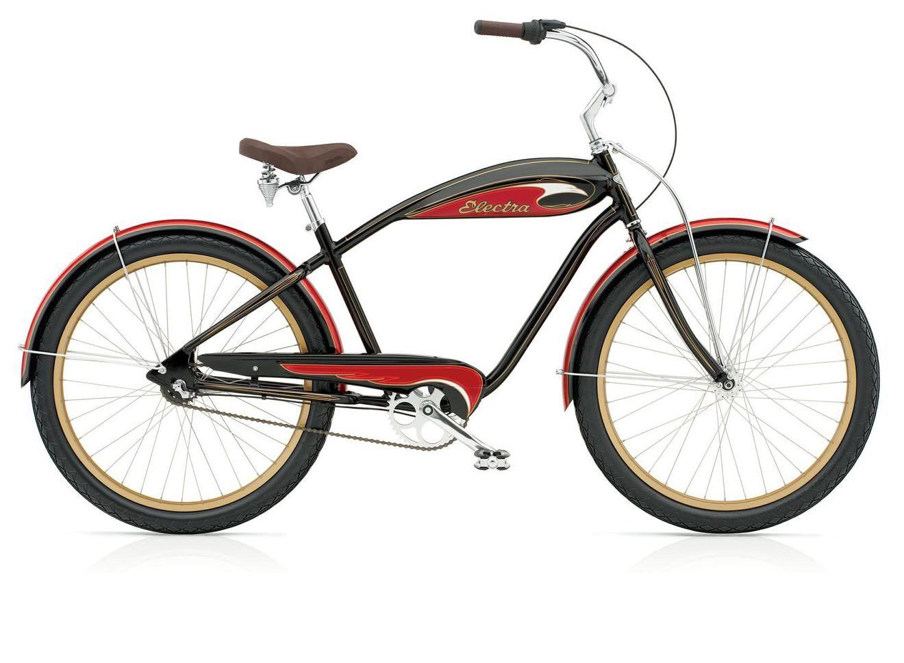 Electra Mulholland 3i Alloy Black Red Men S Electra Bike