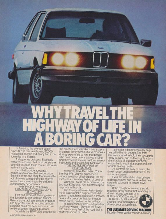 1979 BMW Car Ad Vintage Automotive Advertisement Print