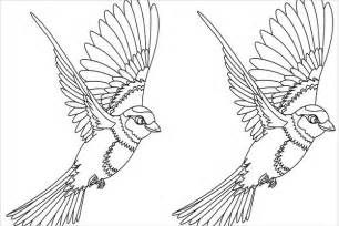Coloring Page Of A Bird Flying Bird Coloring Pages Love