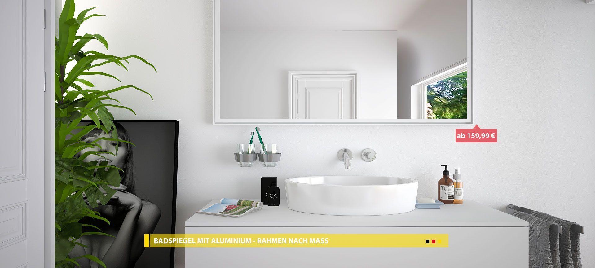 Badspiegel Mit Rahmen Mit Led Badspiegel Badezimmerspiegel Spiegel