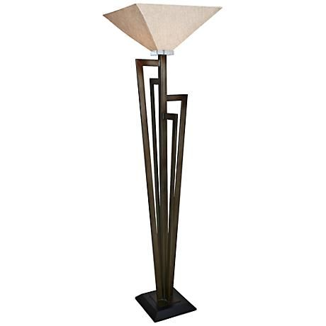 Van Teal Uptown Krypton Gold Torchiere Floor Lamp 547