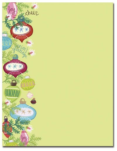 Whimsy Ornaments Letterhead