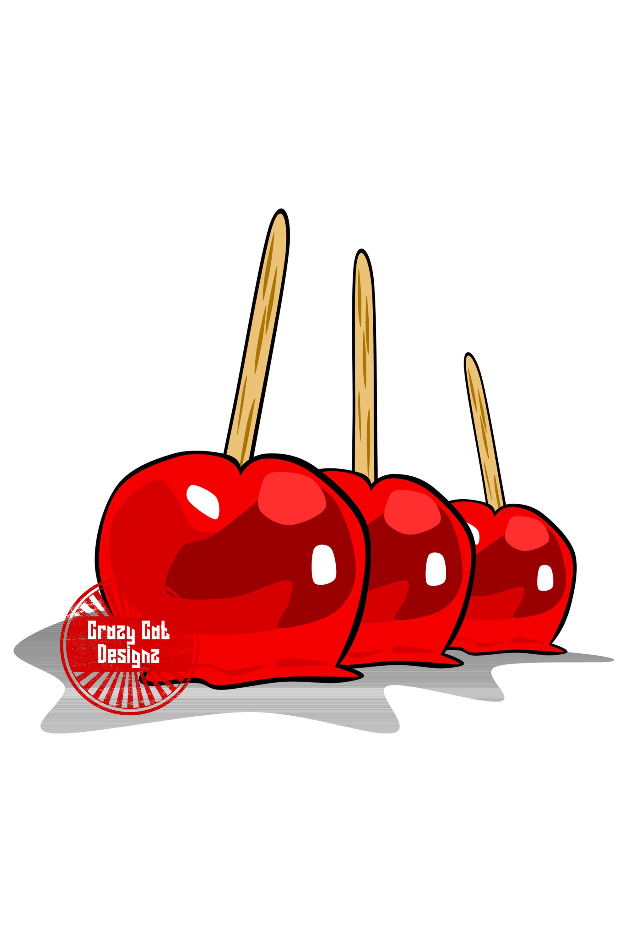 Candied Apples Silhouette Svg Png Jpg Clipart Vector Etsy Apple Silhouette Digital Graphics Png
