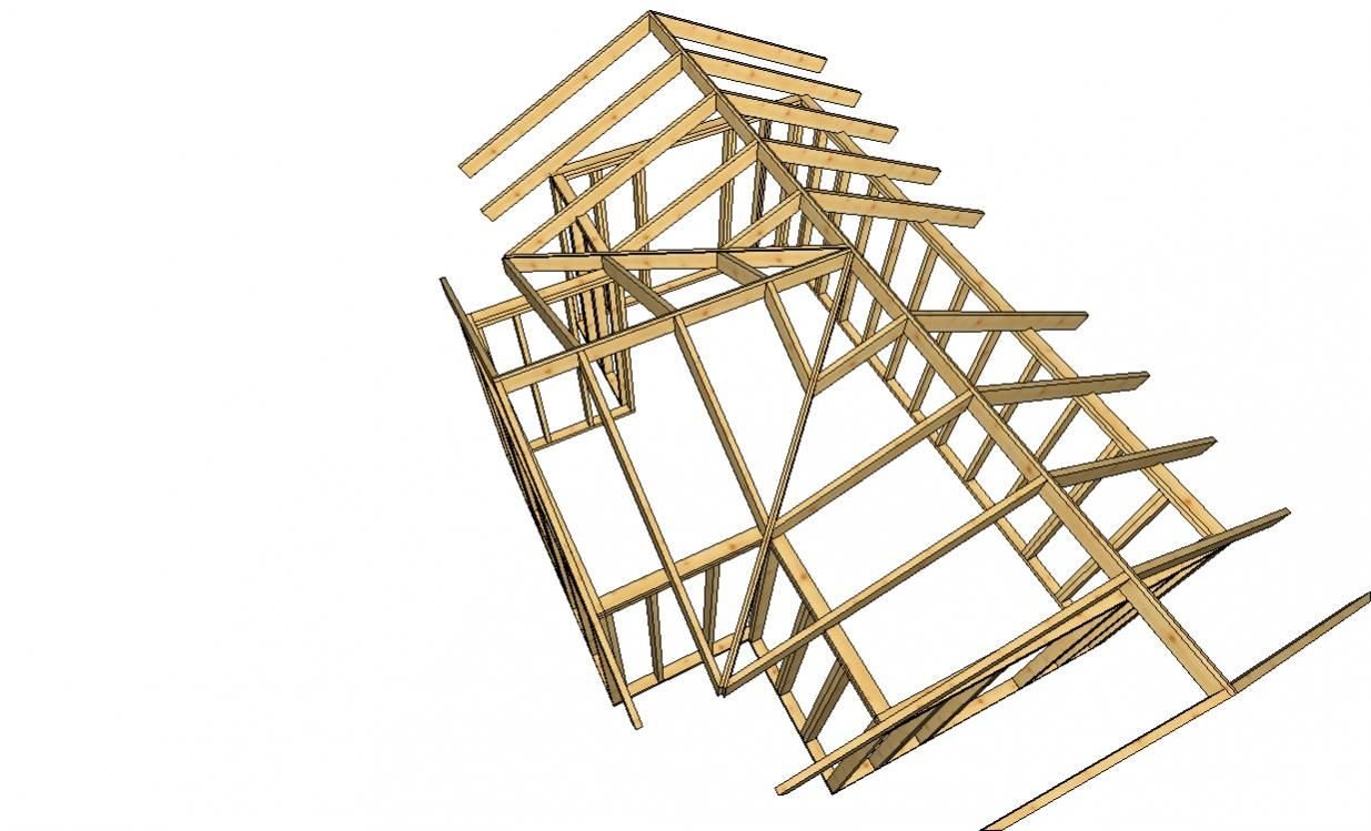 28470d1265434007 Help Hip Roof Supports Chicken Coop Jpg 1235 749 Rafter Intersecting Roof