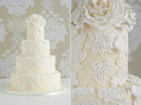 Lace Wedding Cake Lique Overpiped By Peggy Porschen 2