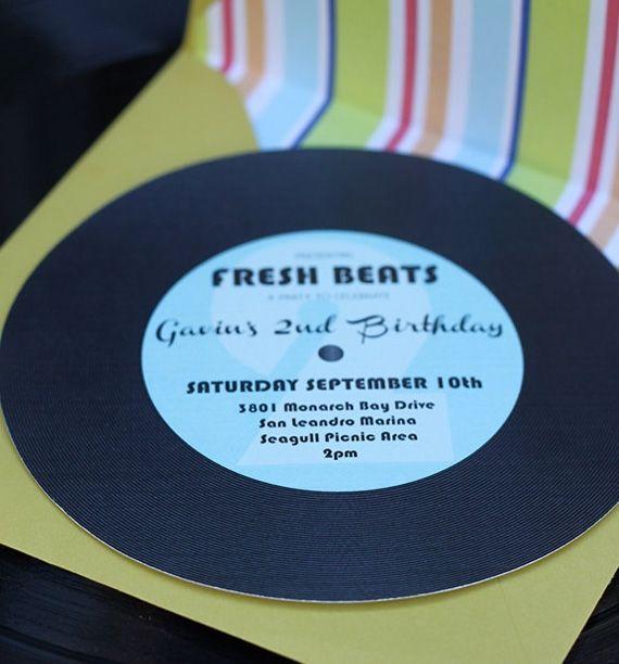 Très Invitation anniversaire theme musique | retraite | Pinterest  DF87