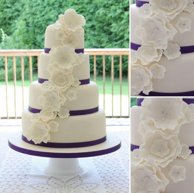 Hochzeit feiern leckere Torte selber zubereiten Blumen