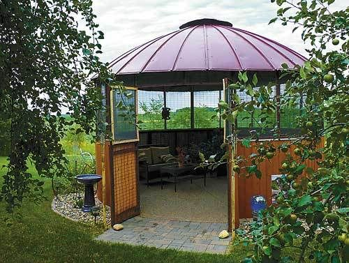 Corn Crib Gazebo Pictures Patty Marthaler Turned An Old