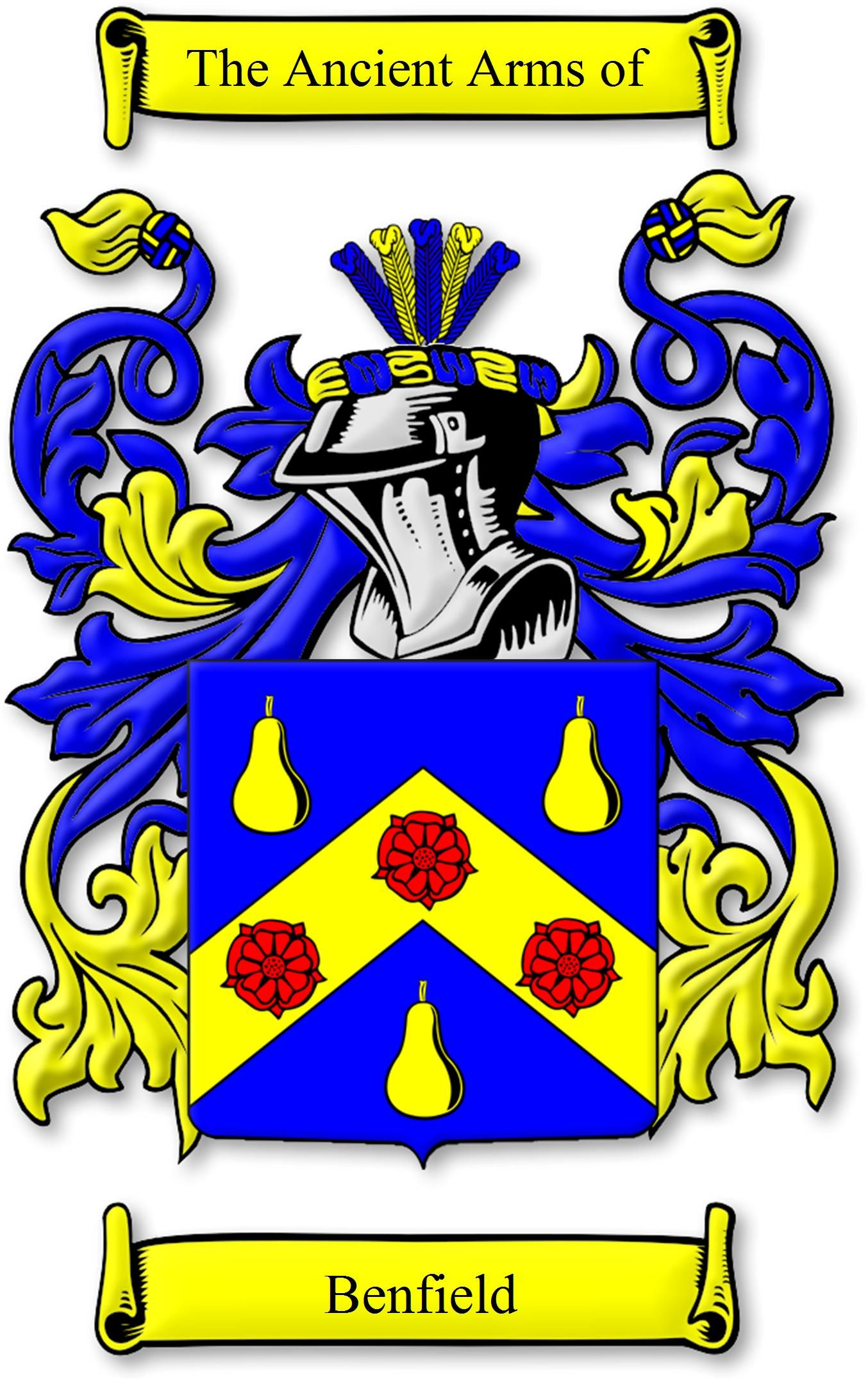 My benfield family crest family crestfamily history pinterest my benfield family crest buycottarizona Image collections