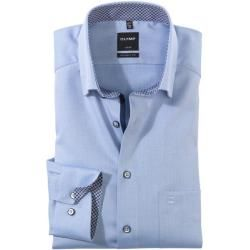 Photo of Olymp Luxor shirt, modern fit, under-button-down, Bleu, 41 Olymp