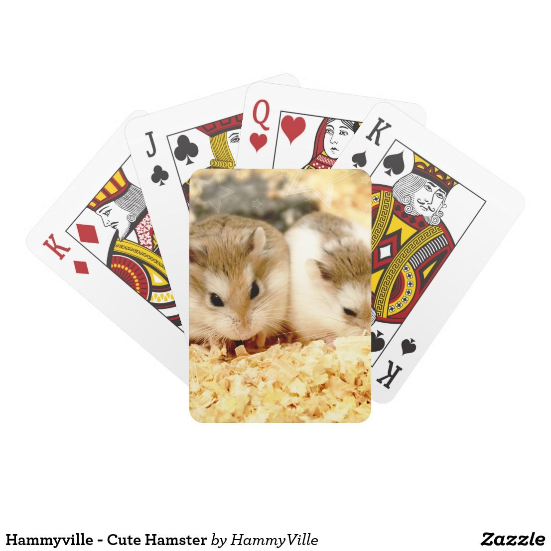 Hammyville Cute Hamster Playing Cards Zazzle Com Cute Hamsters Hamster Cute Animals