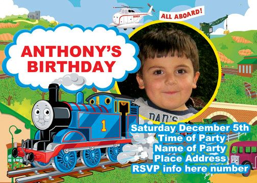 Thomas the Tank Engine and Friends Invitation Digital file Print – Thomas the Train Birthday Invites