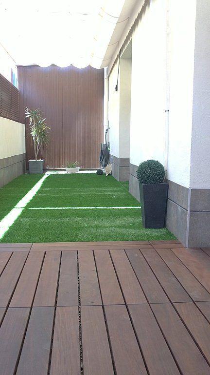 Terrazas peque as ideas pinterest terrazas Piscinas alargadas y estrechas