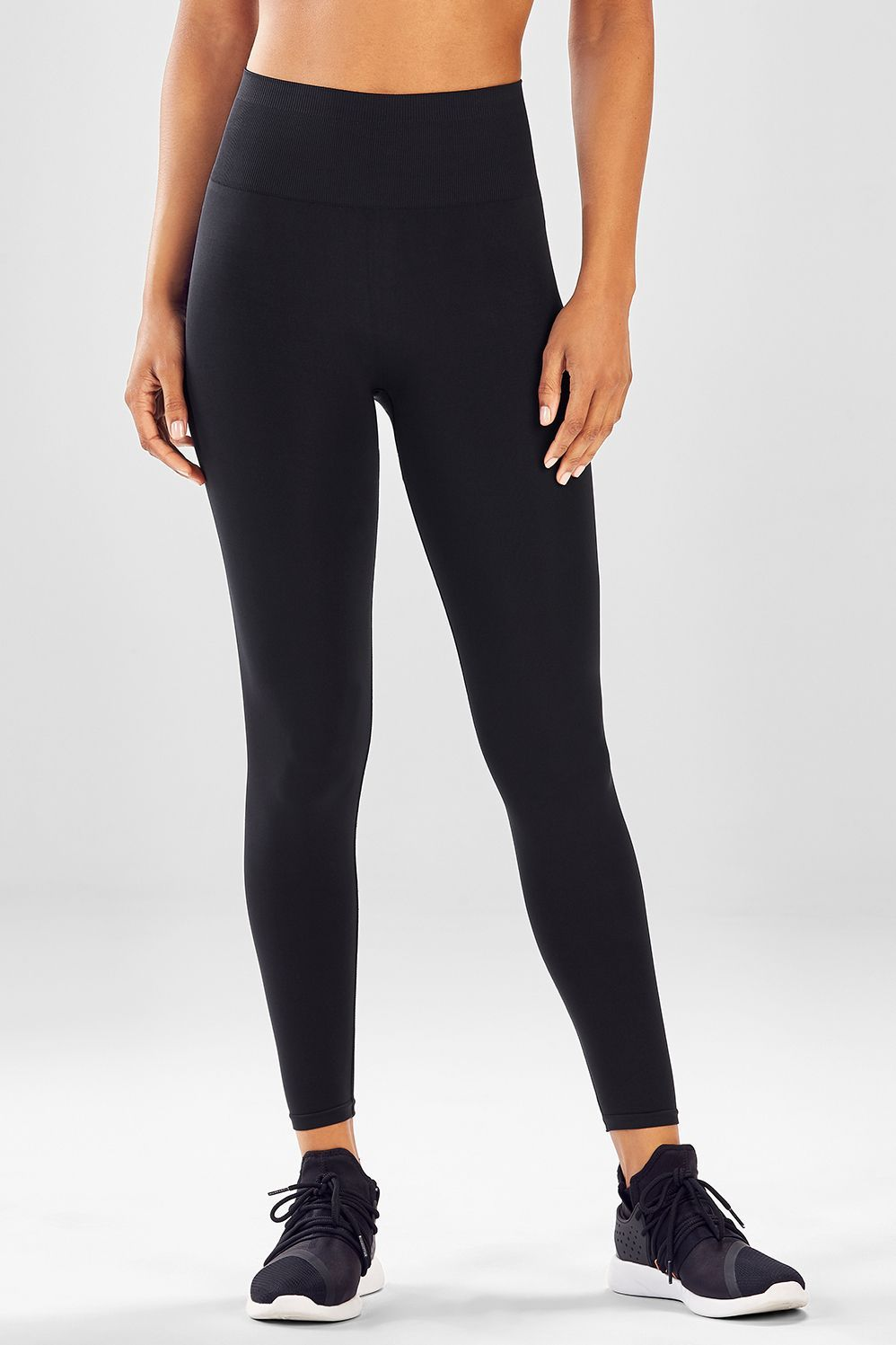 5ad66568bb848c Seamless High-Waisted Solid Legging - black 2 for $24   Baby ...
