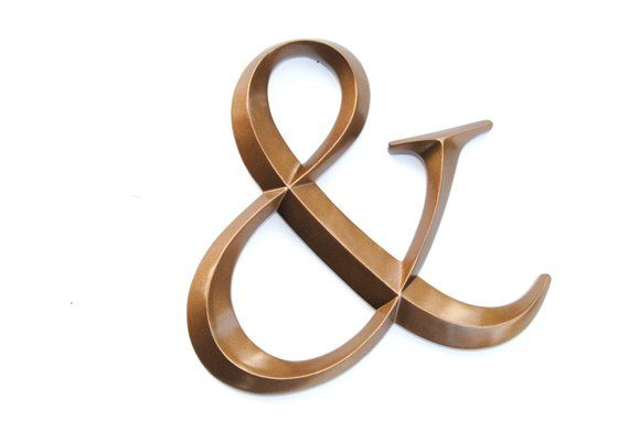 Bronze Ampersand Sign Large Wall Ampersand Wedding Decor