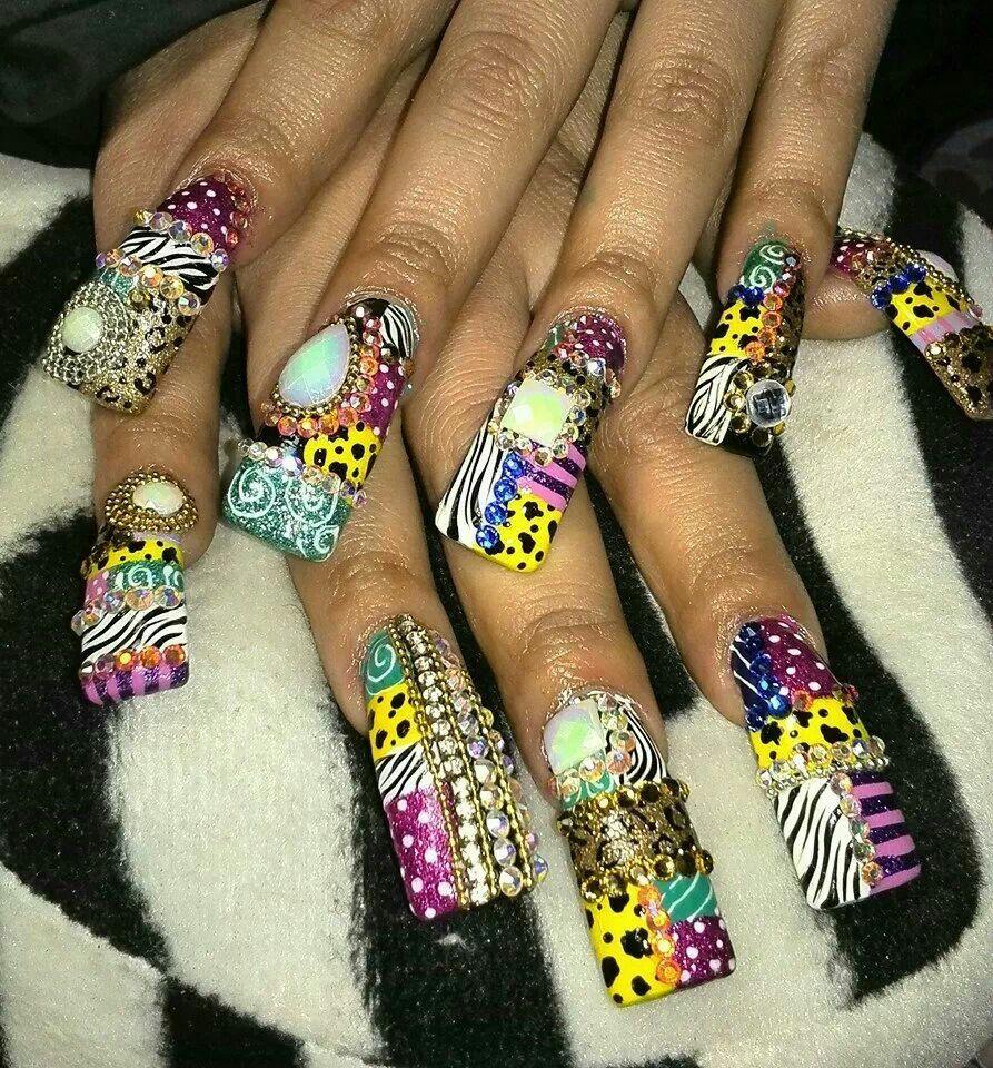 Sinaloa nails | Nails | Pinterest | Uñas estilo sinaloa, Diseños de ...