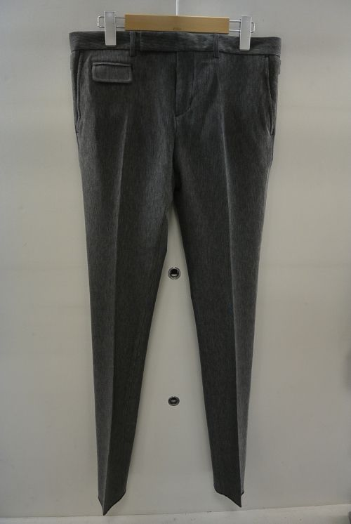 2015 A W GalaabenD プロモダールリップル tapered trousers 95 CHARCOALGRAY 774aaec6253