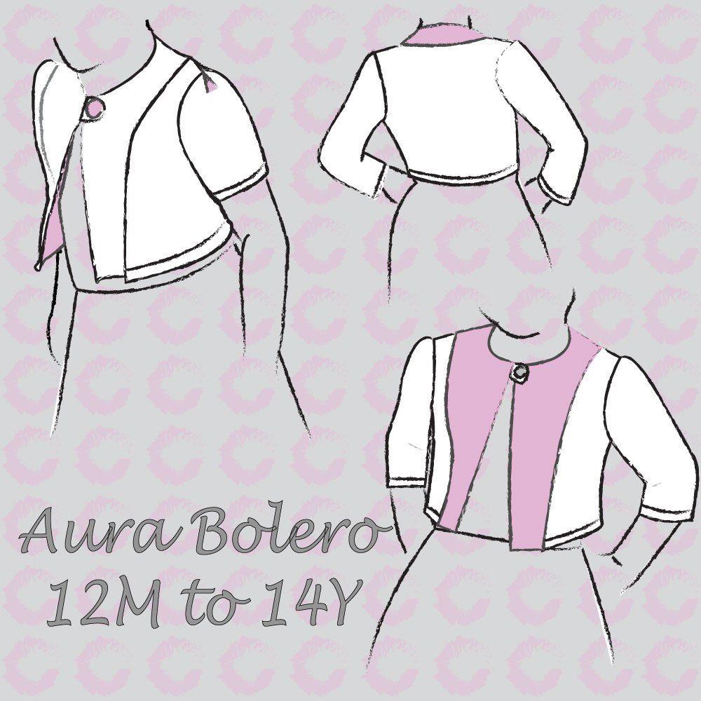 Aura Bolero English pattern – Sofilantjes Patterns | Sewing Patterns ...