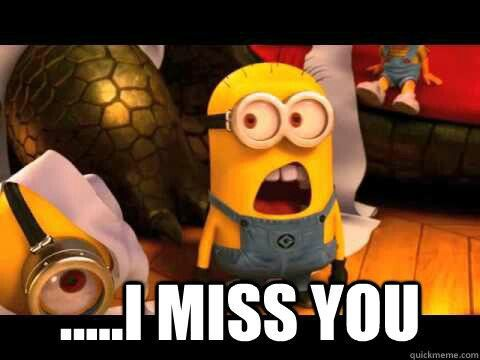 Minions!!!! I miss you!!! #love