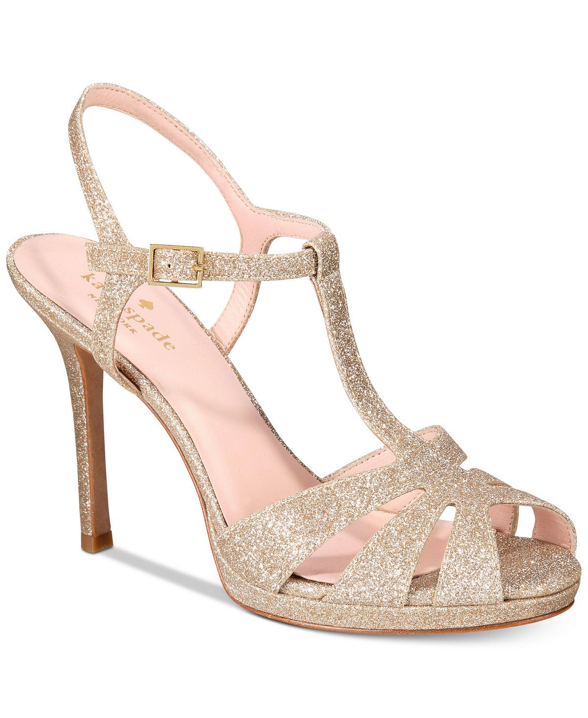 3cafdf4a1a66 kate spade new york Feodora Glitter Dress Sandals - Heels - Shoes - Macy s   www.macys.com