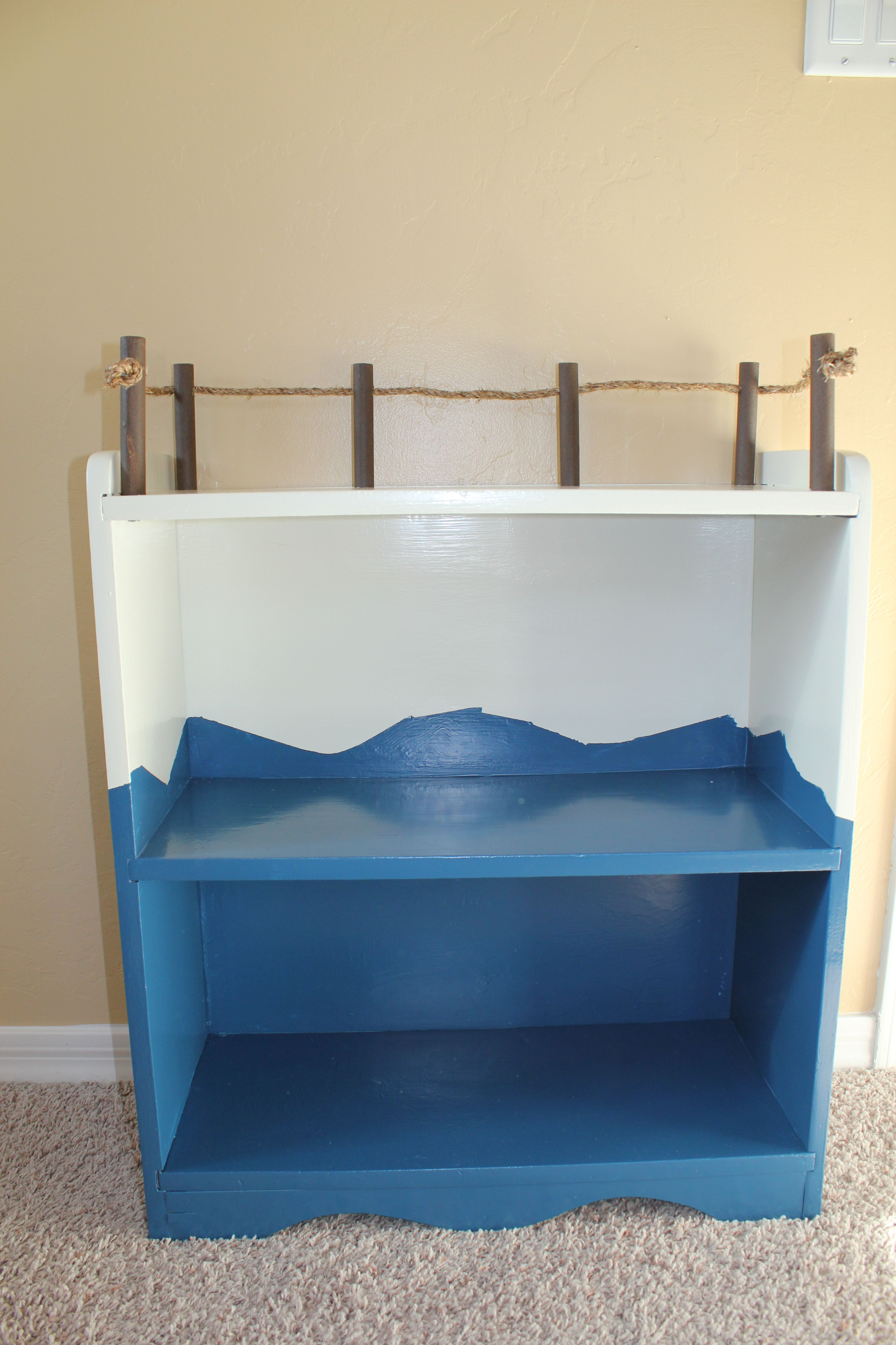 Bought Bookshelf At Rummage Sale Husband Took Over Projectsanded It