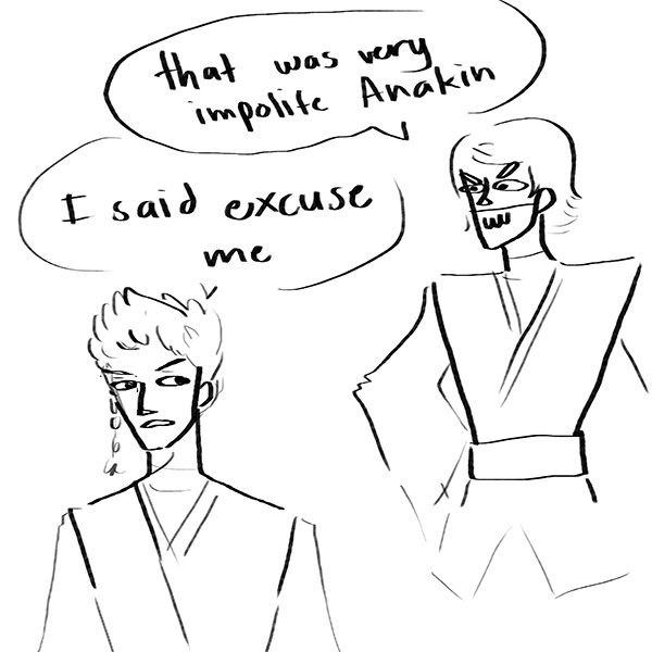 "cupcakelogic: "" cadesama: "" cupcakelogic: "" HYPOCRISY "" It's not really the jumping out of things above Coruscant traffic that Obi-Wan takes issue with. It's doing so mid-conversation, "" ""《why is this so funny"