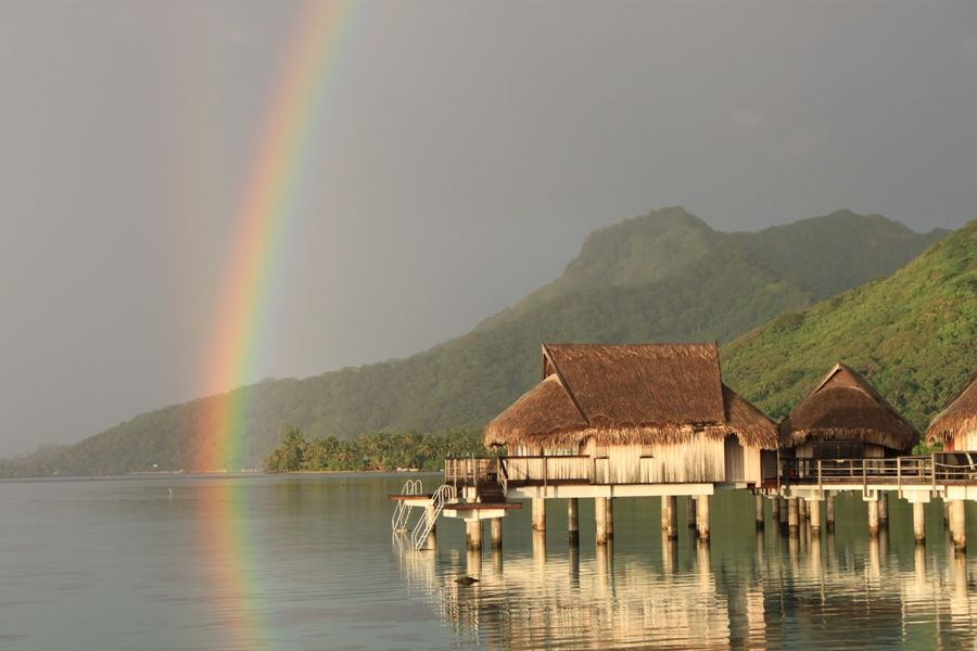 Album Tahiti / Moorea, arco iris - arc en ciel