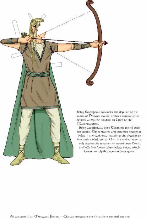 Истории Средиземья и Неоконченная Сказка. Elves. Часть 1 - Margaret Flemming - Бумажные куклы - Каталог статей - Бумажные куколки