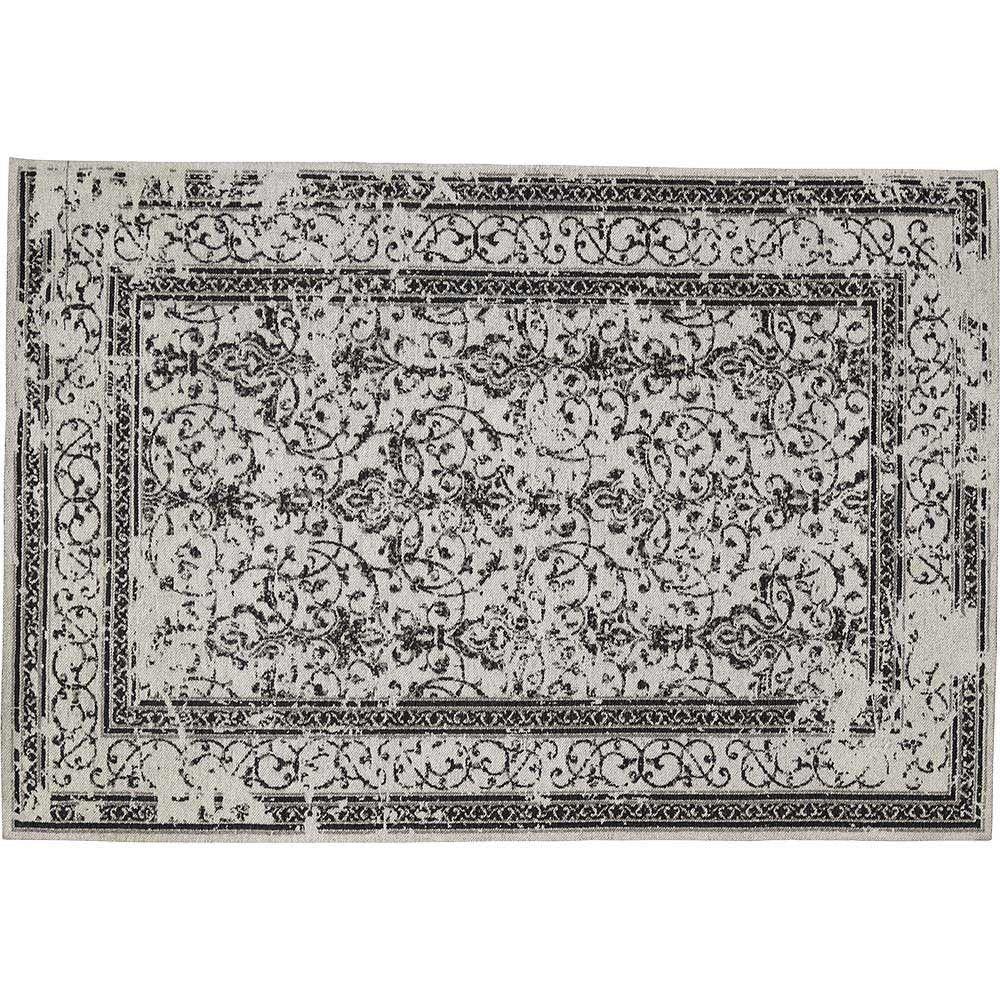 tapis tisse jacquard carmina gris
