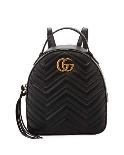 54f8d7087710 V3JRD Gucci GG Marmont Quilted Leather Backpack