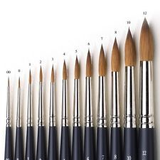 Winsor Newton Artists Pure Sable Round Brushes Watercolour