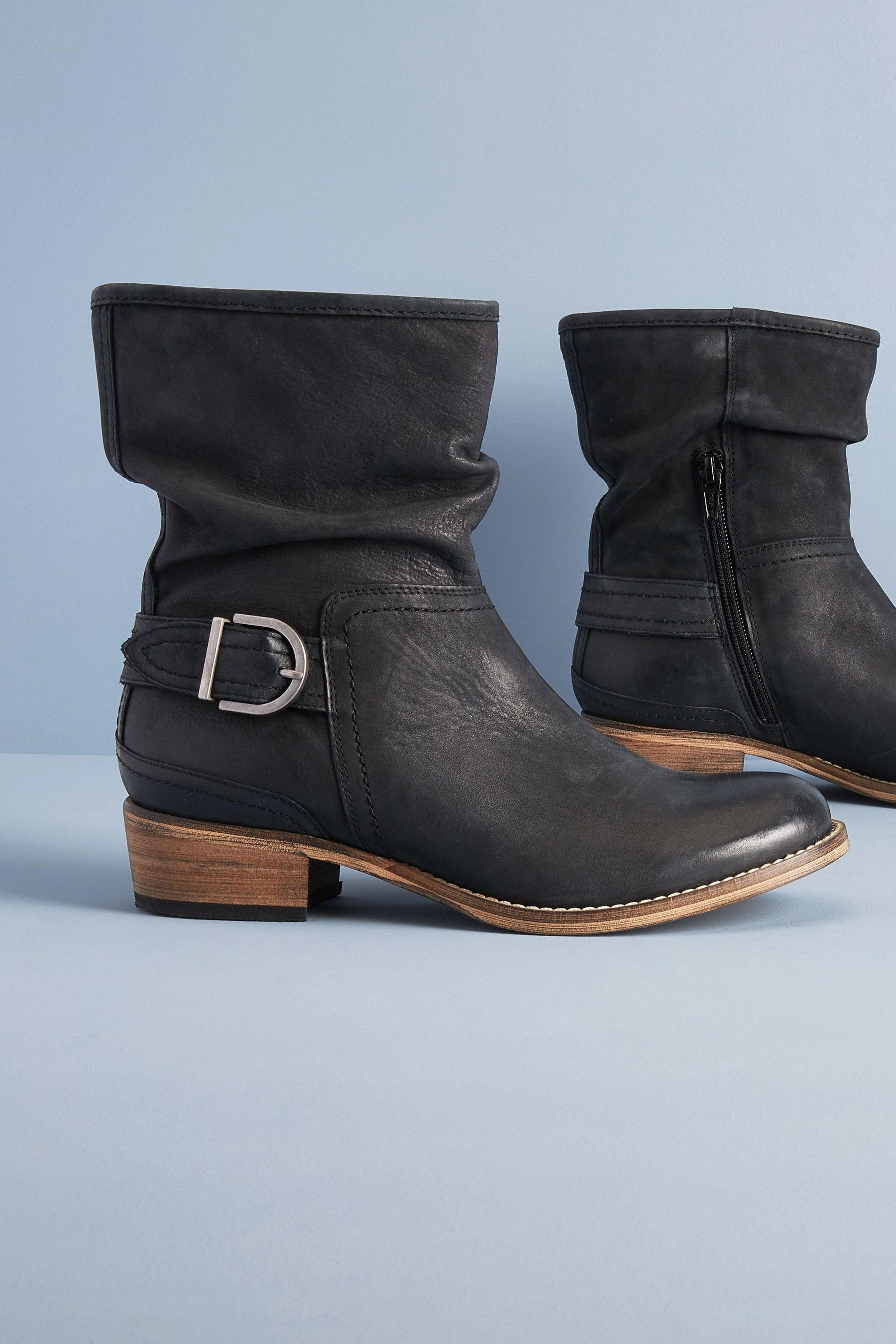 Slouch ankle boots, Boots, Black ankle