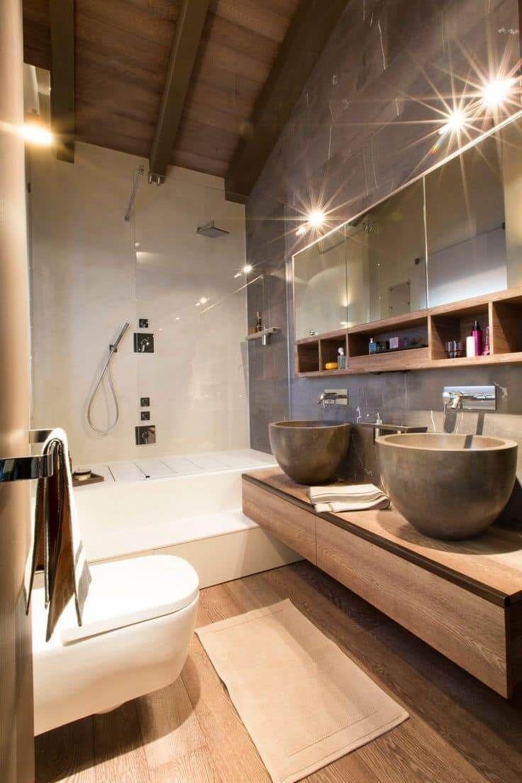 Дом в стиле шале (45 фото) | Красивые ванные комнаты ...